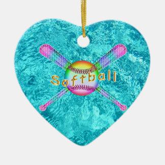 Ornement Cœur En Céramique Cadeaux mignons superbes du base-ball pour des