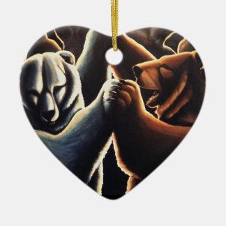 Ornement Cœur En Céramique Cadeaux multiculturels de danse d'amour d'ornement
