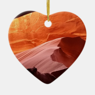 Ornement Cœur En Céramique Canyon d'antilope