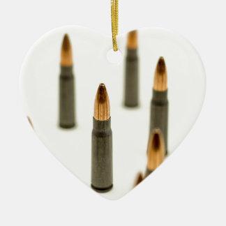 Ornement Cœur En Céramique Cartouche 7.62x39 d'AK47 de balle de munitions