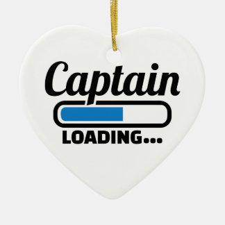 Ornement Cœur En Céramique Chargement de capitaine