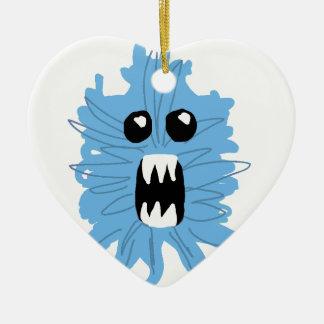 Ornement Cœur En Céramique Chemise bleue de bébé de monstre