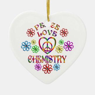 Ornement Cœur En Céramique Chimie d'amour de paix