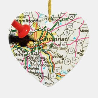 Ornement Cœur En Céramique Cincinnati