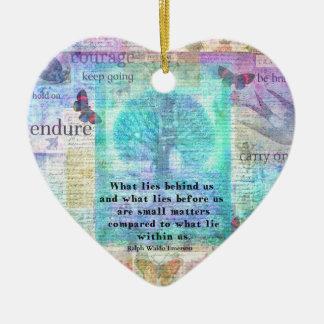 Ornement Cœur En Céramique Citation inspirée de la vie