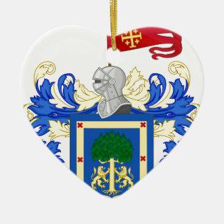 Ornement Cœur En Céramique Coat_of_Arms_of_Guadalajara_ (Mexique)