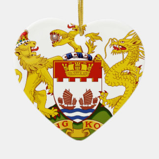 Ornement Cœur En Céramique Coat_of_arms_of_Hong_Kong_ (1959-1997)