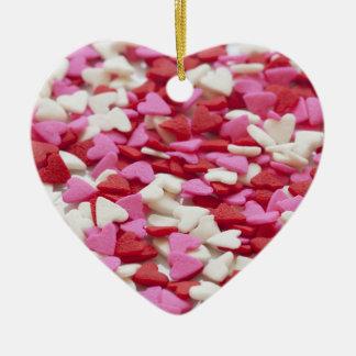 Ornement Cœur En Céramique Coeurs de Valentine dans la conception blanche et
