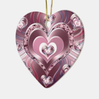 Ornement Cœur En Céramique Coeurs débordants de rivière