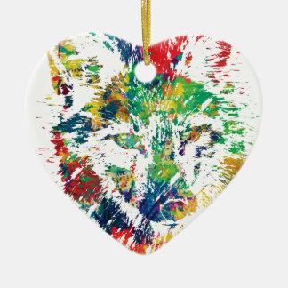 Ornement Cœur En Céramique colorez-moi appel rusé de renard