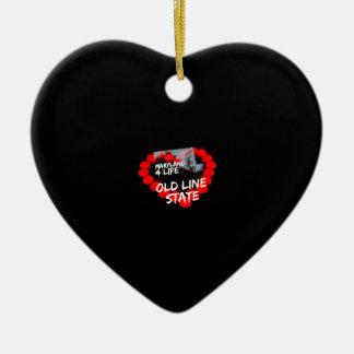 Ornement Cœur En Céramique Conception de coeur de bougie pour l'état du