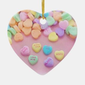 Ornement Cœur En Céramique Conception de Valentine de bonbon