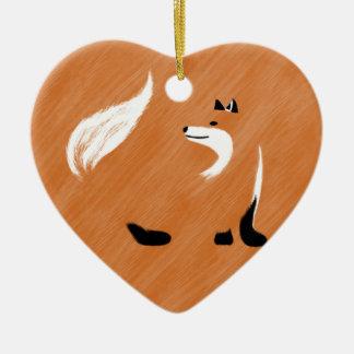 Ornement Cœur En Céramique Conception unique de Fox