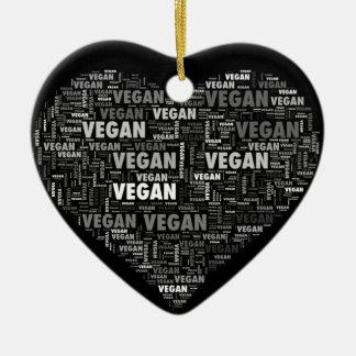 Ornement Cœur En Céramique Conception végétalienne de coeur d'amour