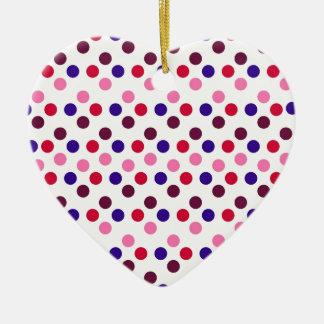 Ornement Cœur En Céramique Concevez les points ronds simples Polk de mode de