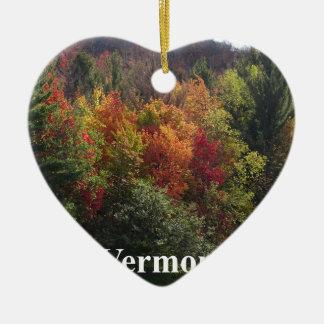 Ornement Cœur En Céramique Couleur du Vermont