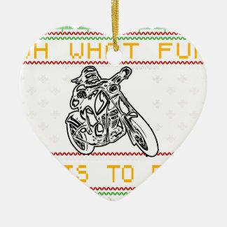 Ornement Cœur En Céramique coupe de conception de moto