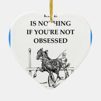 Ornement Cœur En Céramique course de chevaux