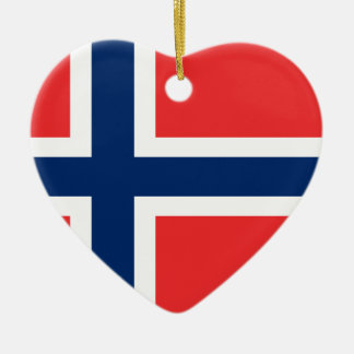 Ornement Cœur En Céramique Coût bas ! Drapeau de la Norvège