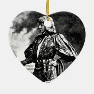 Ornement Cœur En Céramique crâne 1899 de William Shakespeare Sarah Baird de