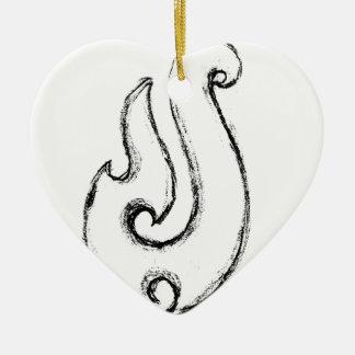Ornement Cœur En Céramique Crochet de Mauis