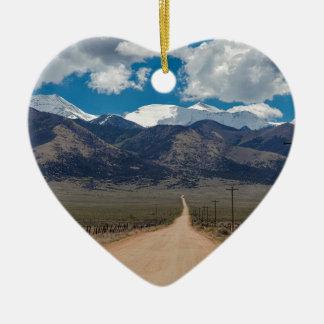 Ornement Cœur En Céramique Croisière de route de dos de vallée de San Luis