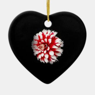Ornement Cœur En Céramique Dahlia