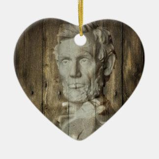 Ornement Cœur En Céramique DC Abraham Lincoln du Lincoln Memorial Washington