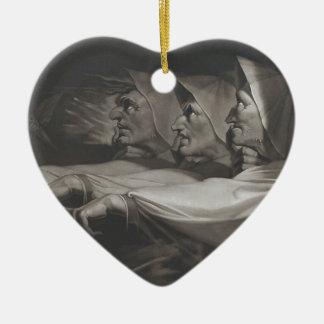 Ornement Cœur En Céramique De soeurs étranges (Shakespeare, Macbeth)