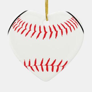 Ornement Cœur En Céramique Dessin de base-ball