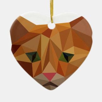 Ornement Cœur En Céramique Digitals Kitty