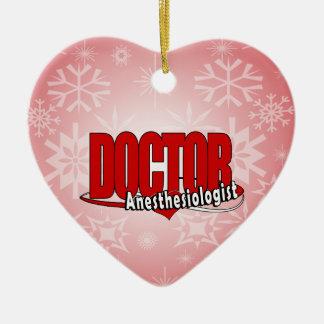Ornement Cœur En Céramique DOCTEUR BIG RED LOGO d'anesthésiste
