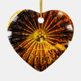 Ornement Cœur En Céramique Dôme de Chora