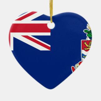 Ornement Cœur En Céramique Drapeau des Îles Caïman - Union Jack