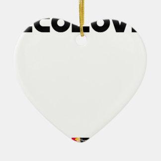 Ornement Cœur En Céramique ECOLOVE - Jeux de mots - Francois Ville