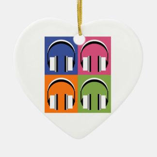Ornement Cœur En Céramique écouteurs dans des couleurs lumineuses