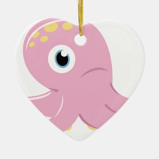 Ornement Cœur En Céramique Édition de concepteurs avec le poulpe
