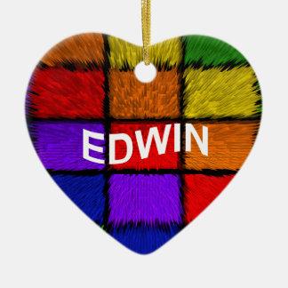 ORNEMENT CŒUR EN CÉRAMIQUE EDWIN