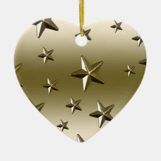 Ornement Cœur En Céramique Effet étoilé en métal d'étincelle du profil sous