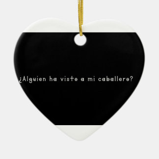 Ornement Cœur En Céramique Espagnol-Chevalier