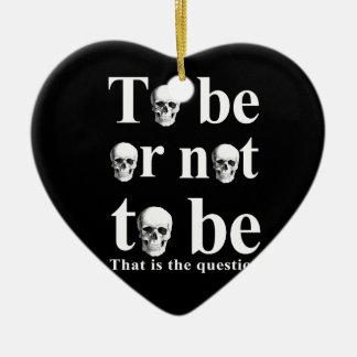 Ornement Cœur En Céramique Être ou ne pas être