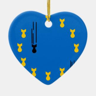 Ornement Cœur En Céramique eu_flag_bombs