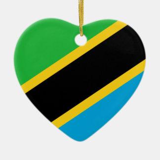 Ornement Cœur En Céramique Flag_of_Tanzania