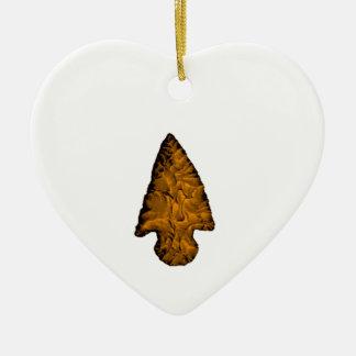 Ornement Cœur En Céramique Flèche cassée