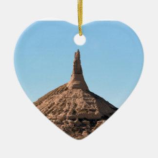 Ornement Cœur En Céramique Flèche de roche de cheminée de Scottsbluff