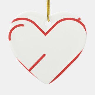 Ornement Cœur En Céramique Flèche par le coeur