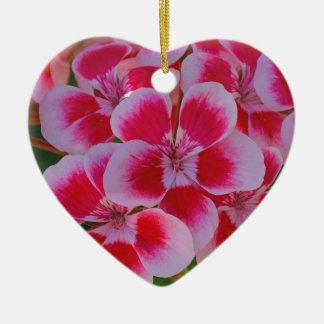 Ornement Cœur En Céramique Fleurs roses de ressort