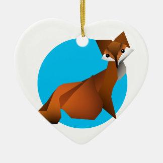 Ornement Cœur En Céramique Fox