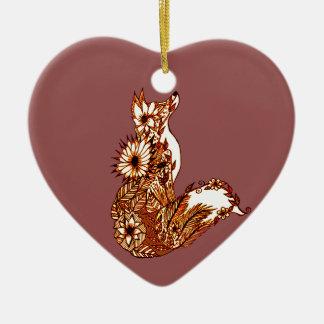 Ornement Cœur En Céramique Fox 1