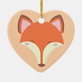 Ornement Cœur En Céramique Fox de Kawaii